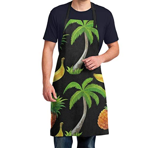 Aprons for Men Watercolor Coconut Palm Tree Mens Aprons For Cooking Funny, Cooking Apron For Men, Men Aprons For Grilling, Funny Aprons For Men, Kitchen Aprons For Men, Personalized Aprons