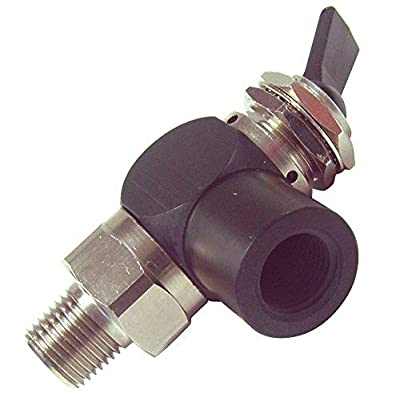 """PNEUMADYNE INC 2.38""""L Aluminum/Brass 3-Way, NPT x FNPT Toggle Valve with Detented Toggle Handle from CAI - PNEUMADYNE INC"""