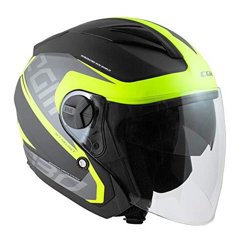 Casco Moto Fluor Marca CGM