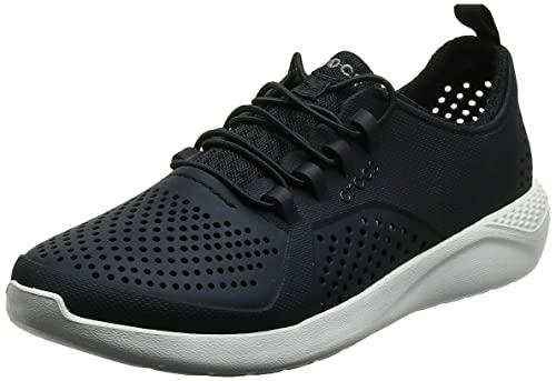 Crocs LiteRide Pacer K Kids School Shoes, Black/Black,