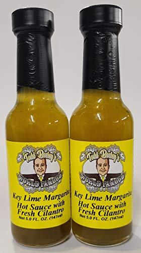 Todd Bosley's World Famous Key Lime Margarita Hot Sauce With Fresh Cilantiro (2 Pack)