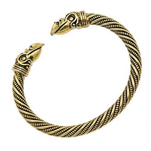 Bigsweety Open Einstellbare Armband Gotik Herren Armband Schmuck, Gold