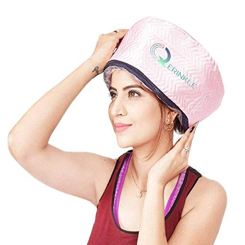 QERINKLE® Hair Care Thermal Head Spa Cap Treatment with Beauty Steamer Nourishing Heating Cap, Spa Cap For Hair, Spa Cap Steamer For Women
