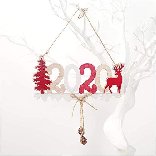 SHJIA Ornamento Natural del Árbol De Navidad De La Navidad Decoración De Navidad para El Regalo Colgante De Madera De La Casa 2Pcs