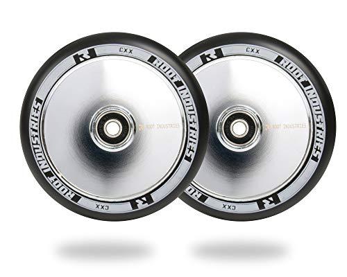 Raíz aire ruedas–120mm, Negro y cromado