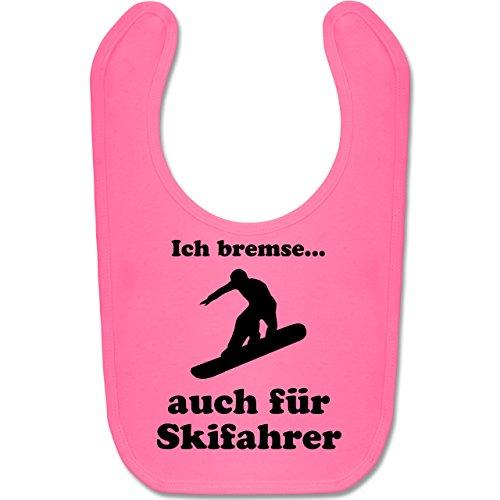 Sport Baby - Snowboard - Ich bremse auch für Skifahrer - Unisize - Pink - sport snowboard - BZ12 - Baby Lätzchen Baumwolle
