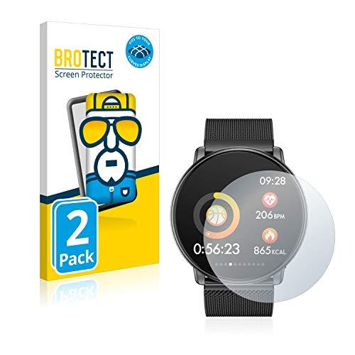 BROTECT Full-Cover Schutzfolie kompatibel mit Azorex Q88 (2 Stück) - Full-Screen Displayschutz-Folie, 3D Curved, Kristall-Klar