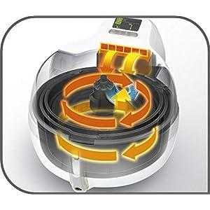 Tefal YV9601 ActiFry 2in1 Heißluft-Fritteuse, 1400 Watt, 1,5 kg Fassungsvermögen, schwarz/silber