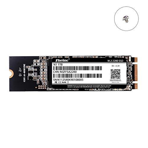 Zheino SSD M.2 2280 1TB NGFF SATA III 6 GB/s interne 3D Nand Solid State Drive für Ultrabooks und Tablets