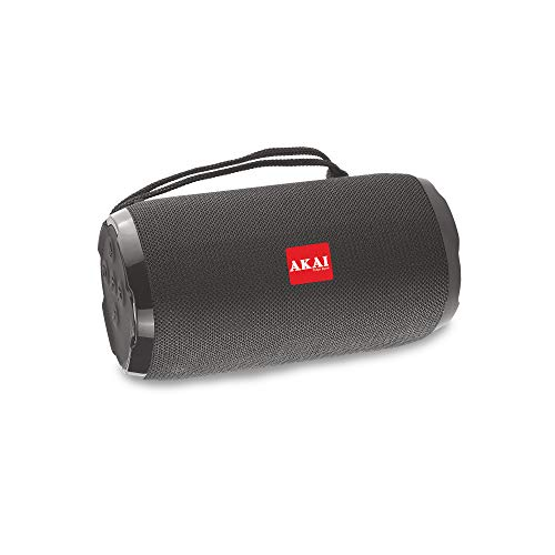 AKAI Bluetooth Wireless Speaker Bass Drum BD-22 10 Watt with Subwoofer, AUX in, TF Card, FM (Black)