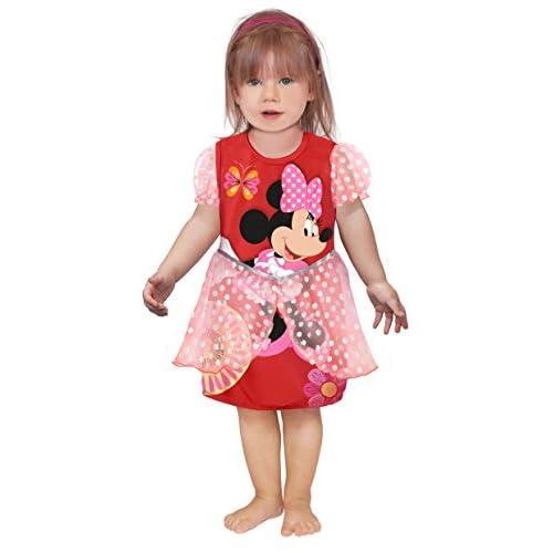 Ciao 11249.12-18 - Principesse Disney Vestito Baby Minnie Classic, Rosso, 12-18 mesi