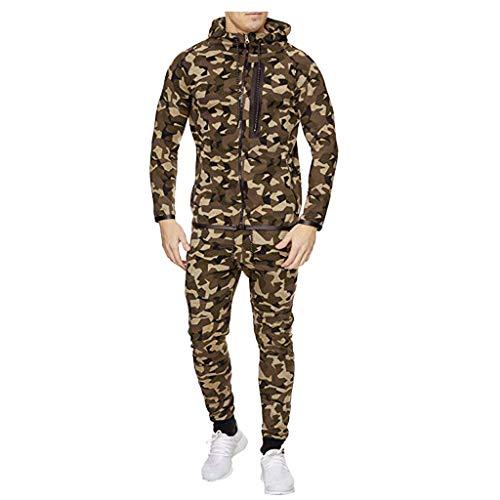 JKRTR Herren Two Pieces Suit Overall Jogging Sportanzug Trainingsanzug Jogginganzug 2019 0411