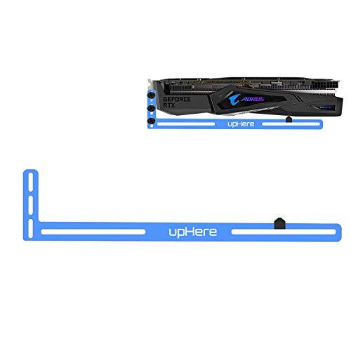 upHere Grafikkarte GPU Brace Support-Videokarte Sehnenhalter/Holster-Halterung, eloxiertes Luft- und Raumfahrt-Aluminium, Einzel- Oder Doppelsteckplatzkarten (Blau),GL02