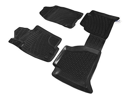 J&J AUTOMOTIVE   Tapis DE Sol en Caoutchouc 3D Exclusive Compatible avec Nissan NAVARA D40 2005-2013