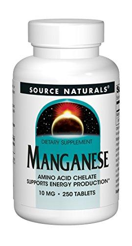 Source Naturals - Manganese aminoacido chelato 15 mg. - 250 compresse