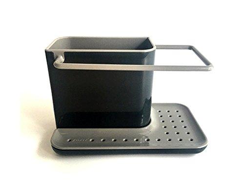 YOFIT Kitchen Soap and Sponge Holder, Sink Organizer (Grey)