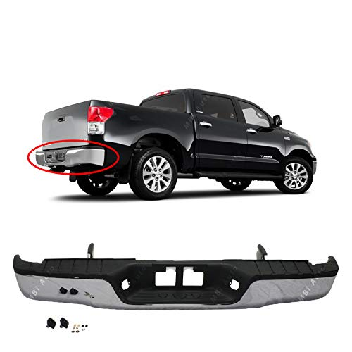 BUMPERS THAT DELIVER - Chrome, Steel Rear Step Bumper Assembly for 2007-2013 Toyota Tundra 07-13, TO1103117