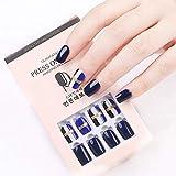 Juego de puntas artificiales de uñas postizas desmontables, cubierta completa - Pack: n ° 7