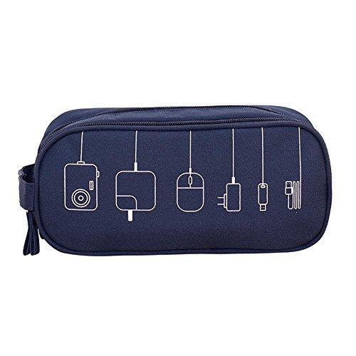 Datenleitungen, Lade-Po, Kopfhörer, Festplatten und andere Elemente Speicherpaket , deep blue