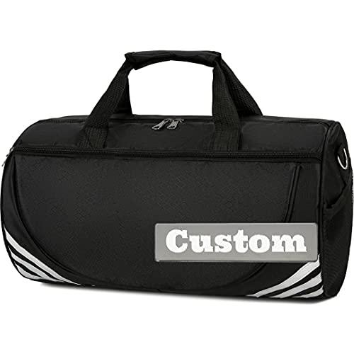 FireH Bolsa de nailon para llevar con nombre personalizado, impermeable, plegable, color negro, talla única