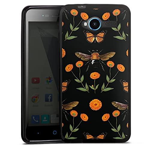 DeinDesign Silikon Hülle kompatibel mit ZTE Blade L3 Hülle schwarz Handyhülle Blumen Biene Natur