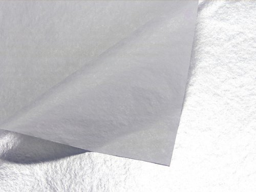 """Metallic Tissue Paper - 20"""" X 30"""" - 10 Pack (Mettalic Silver Tissue One Sided)"""
