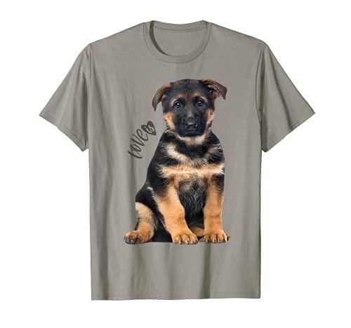 Camiseta de pastor alemán Shepard Dog Mom Dad Love Pet Puppy Tee Camiseta