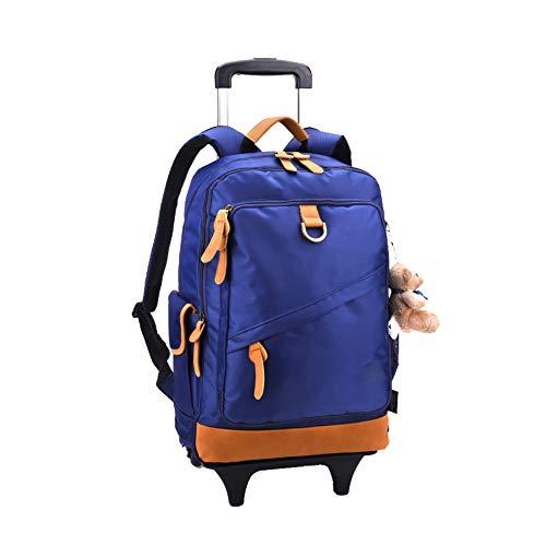 Rolling rugzak voor kinderen, schooltas wiel rugzak met wielen schooltas voor meisjes met wielen reistas rugzak (6-12 jaar oud)