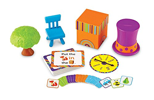 Learning Resources Fox In The Box Position Word Activity Set, Back to School Games, Classroom Games for Teachers, Phonics Game, Preschool, 65 Piece Set, Ages 3+
