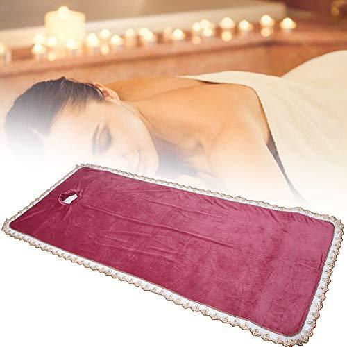 80 * 200cm spa massagetafel hoeslaken met gat, warm koraal fluweel verdikking schoonheidssalon massage massageblad massage bed sprei(Paars rood)