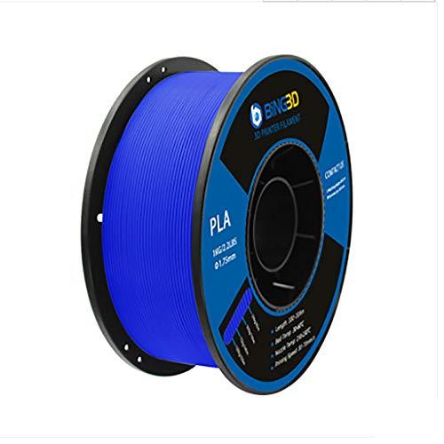 Bobina de filamento conductor PLA de 1 kg (2,2 lb), filamento PLA de 1,75 mm, para impresora 3D (Color: azul)