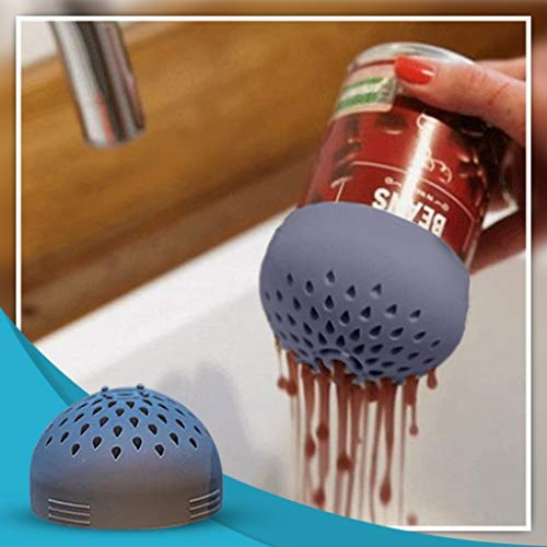 Sagton Micro Kitchen Colander,Portable Multi-use Mini Colander,Quick Draining Mini Can Drainer, Colander Strainer for Drain Chickpeas, Kidney Beans and Tinned Fruit Food (Gray)