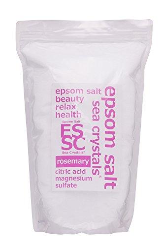 エプソムソルト ローズマリーの香り 2.2kg 入浴剤 (浴用化粧品) クエン酸配合 シークリスタルス 計量スプー...