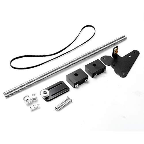 3D Drucker Dual Z-Achse Upgrade Kit mit Single Step Motor Spannung Set Riemenscheibe, für Ender-3, Schwarz , 1