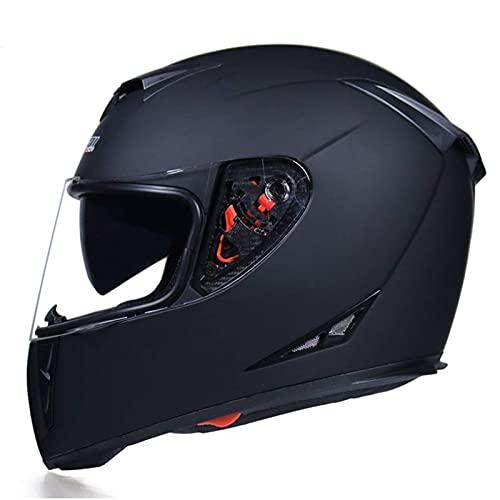 Casco de motocicleta modular de cara completa Moto de la visión de la carretera de la carretera Moto de la moto Casco de motocicleta Casco de motocicleta Visa doble para hombres Mujeres ATV MTB