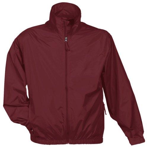 Tri Mountain Men's Lightweight Water Resistant Jacket, Maroon, X-Large