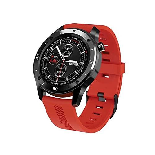 JIUTAI Salud y Fitness SmartWatch Impermeable de tensión Inteligentes Reloj táctil Completa del Ritmo cardíaco Blood Red de Detección de Pulsera