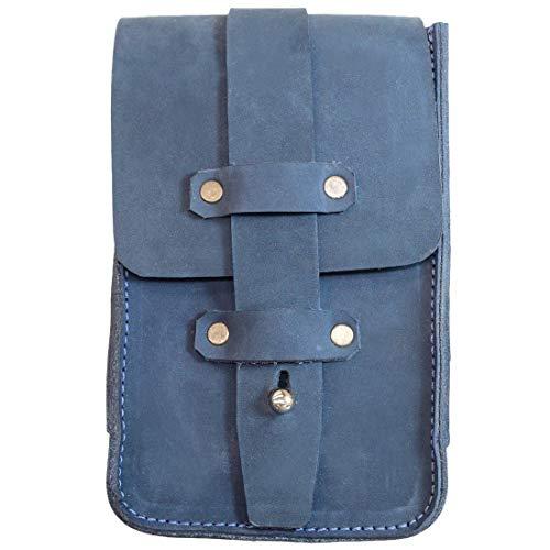Hide & Drink, Thick Leather Bartender Bottle Opener / Corkscrew Holster Fanny Pack Belt Pouch Handmade - Blou Reed