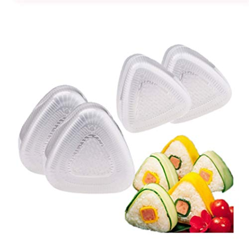 4Pcs / Lot DIY Sushi-Form-Onigiri Reis-Ball Lebens- Mittel Presse Triangular Sushi-Hersteller-Form Sushi Kit Japanische Küche Bento Zubehör
