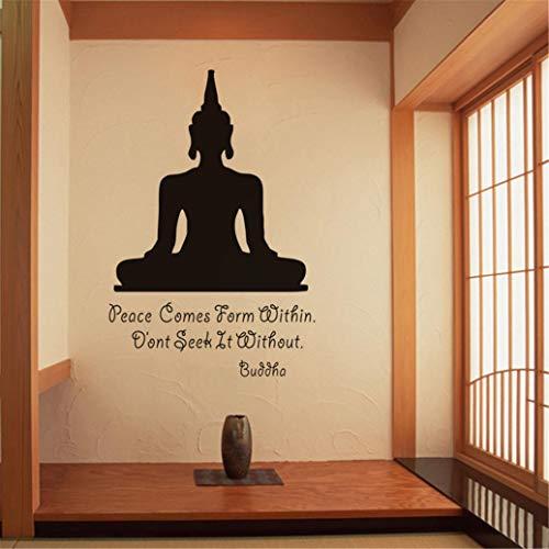 Removable Sakyamuni Buddha Yoga Wall Decal,Bodhisattva Meditation Wall Sticker,Wall Art ,Wall Decor for Yoga Room, Bedroom,Living Room