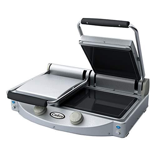 Buy Cadco Double Panini/Clamshell 220-Volt Grill with Smooth Top Plate