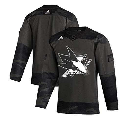adidas San Jose Sharks 2019 Veterans Day Camo Authentic Practice Jersey (46/S)