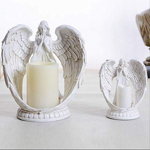 Sculptuur handwerk, huwelijkscadeau Europese hoofddecoratieset stukken praktische woonkamer slaapkamer TV kast engel elektronische kandelaar