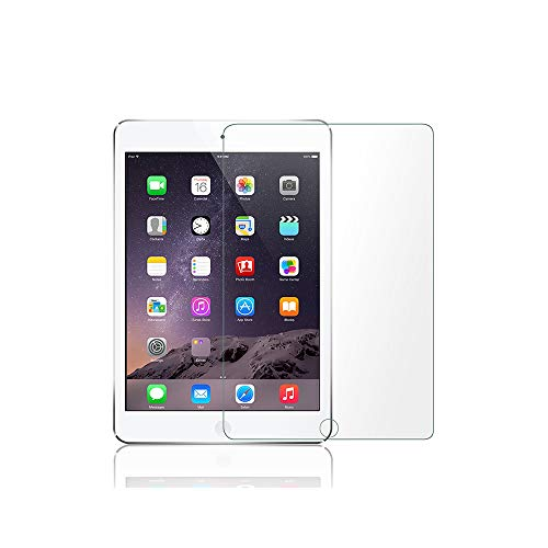 Tempered Glass Screen protector for Apple iPad / iPad Pro 9.7 / iPad 5 / iPad 6 / iPad Air 2 / iPad Air Full Protection [No Bubble] [Touch Accurate] [Case Friendly ] [full coverage] HD protective film for iPad (9.7')