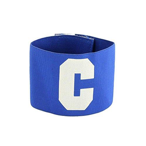 Fascia elastica capitano calcio calcetto sport di squadra blu bianco 256-1