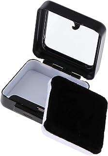 ルースケース バッジケース ベルベット 小物収納 鉱物 宝石 コレクション ケース 金属製 ボックス