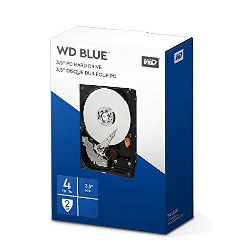 WD Blue 4 TB Interne Festplatte (8,89 cm (3,5 Zoll) 5400 U/min, SATA, 6 Gb/s, 64 MB Cache) (Retail Kit)