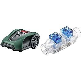 Tondeuse Robot connectée Bosch – Indego S+350 (contrôle avec Smartphone) & F016800432 Connecteurs de câble pour Tondeuse Robot Bosch indego – Sachet de 4pcs, Transparent
