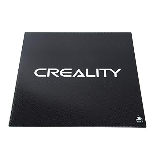 Creality 3D Druckbett Mit 4 Clips Heat Bed Ender 3 Glas-Bett, 3D Drucker Plattform, 235 x 235 x 4 mm für Creality 3D Printer Ender-3 / Ender-3 Pro Hot Bed mit Mikroporöser Beschichtung