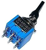 AERZETIX: Interruptor conmutador de palanca DPDT ON-ON 3A/250V, 2 posiciones C10554...